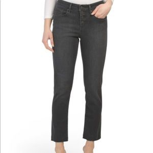 Levi's High Waisted Button Front Raw Hem Jeans